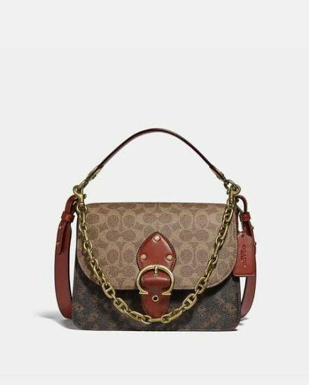 Fashion 4 Coach Beat Shoulder Bag In Signature Canvas With Horse And Carriage Print