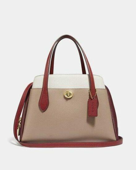 Fashion 4 Coach Lora Carryall 30 In Colorblock