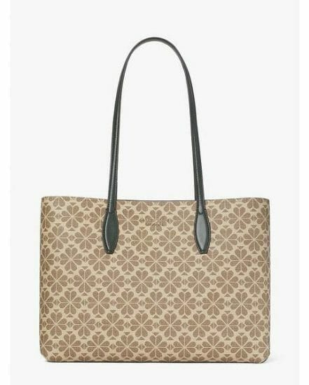 Fashion 4 - spade flower coated canvas all day large tote