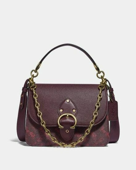 Fashion 4 Coach Beat Shoulder Bag With Horse And Carriage Print