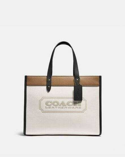 Fashion 4 Coach Field Tote 30 In Colorblock With Coach Badge