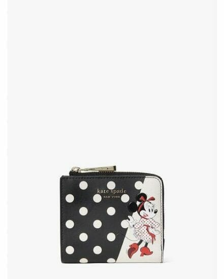 Fashion 4 - disney x kate spade new york minnie mouse small bifold wallet