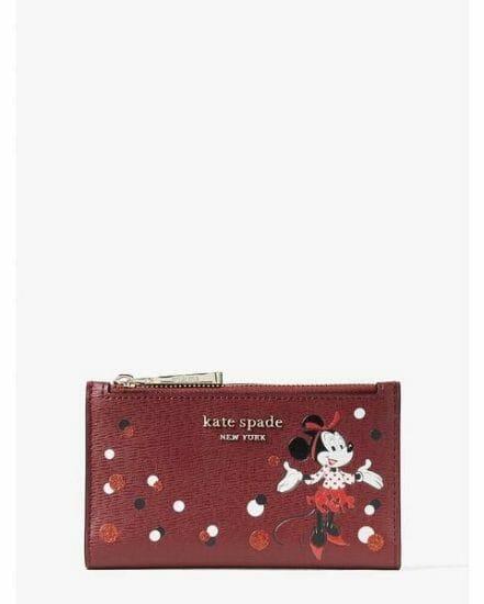 Fashion 4 - disney x kate spade new york minnie mouse small slim bifold wallet