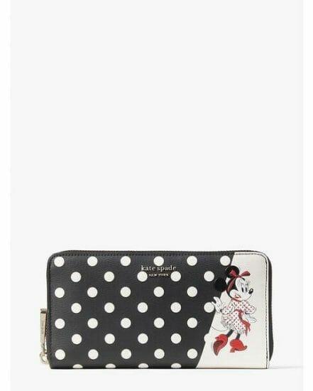Fashion 4 - disney x kate spade new york minnie mouse zip around continental wallet