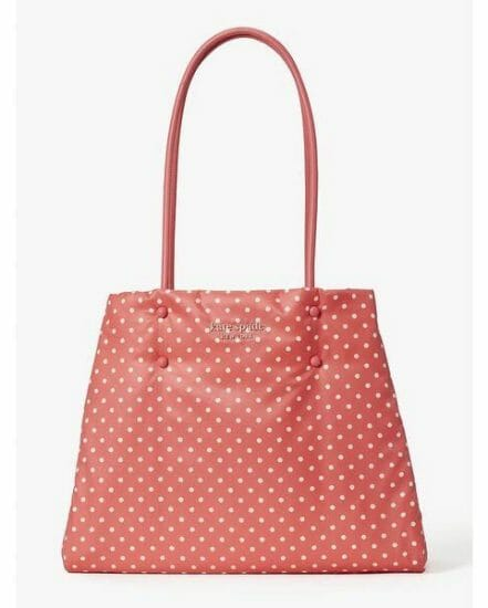 Fashion 4 - everything puffy dots large tote