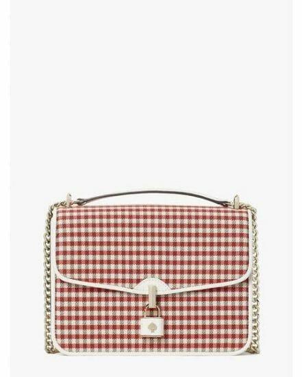 Fashion 4 - locket plaid large flap shoulder bag