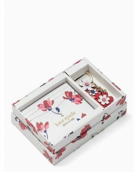 Fashion 4 - staci tea garden toss boxed card holder & keyfob set