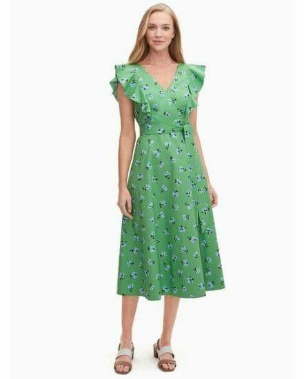 Fashion 4 - tea garden toss poplin midi dress