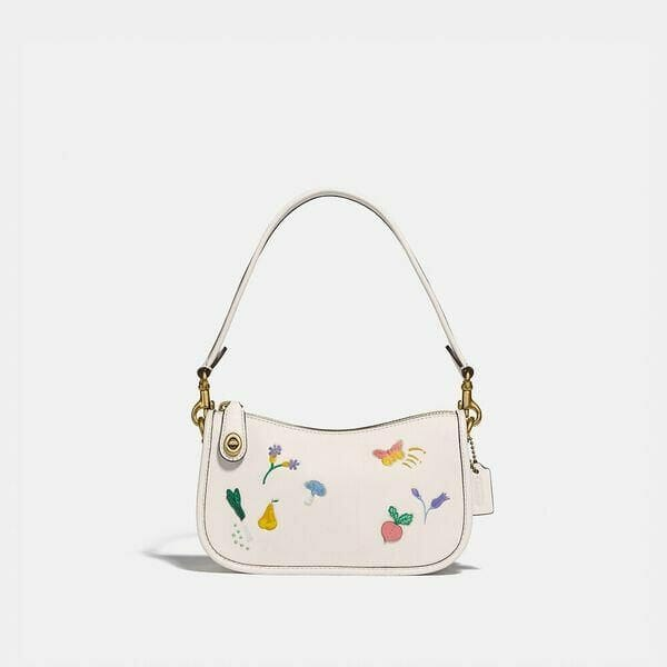 Fashion 4 Coach Swinger 20 With Garden Embroidery