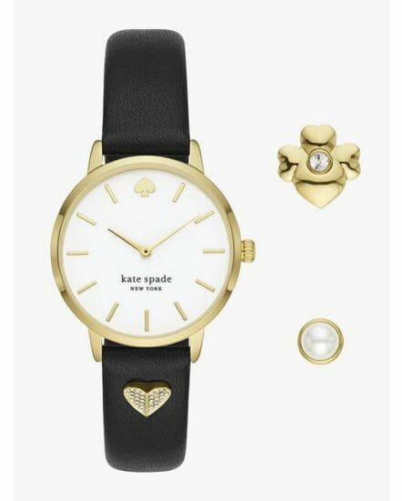 Fashion 4 - metro leather watch and charm set