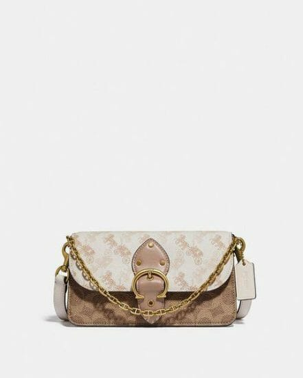 Fashion 4 Coach Beat Crossbody Clutch In Signature Canvas With Horse And Carriage Print