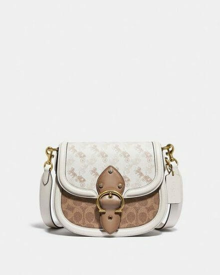 Fashion 4 Coach Beat Saddle Bag With Horse And Carriage Print