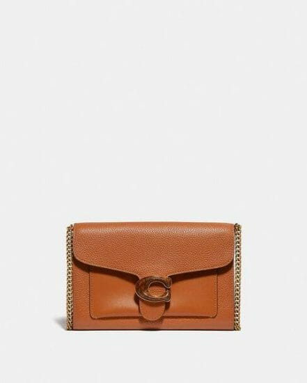 Fashion 4 Coach Tabby Chain Clutch In Colorblock With Snakeskin Detail