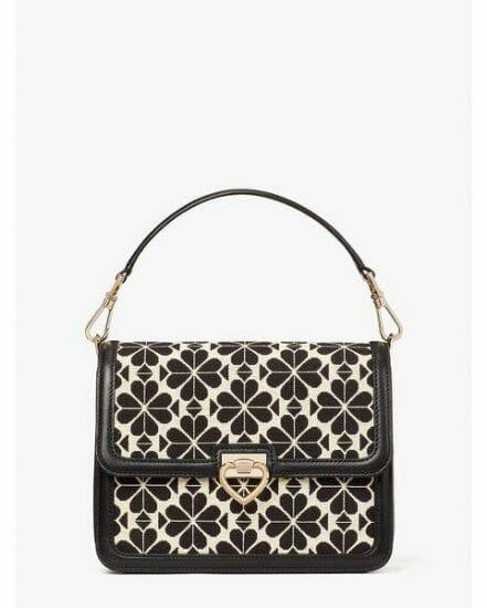Fashion 4 - spade flower jacquard lovitt medium shoulder bag