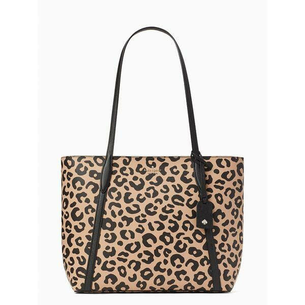 Fashion 4 - cara graphic leopard large tote