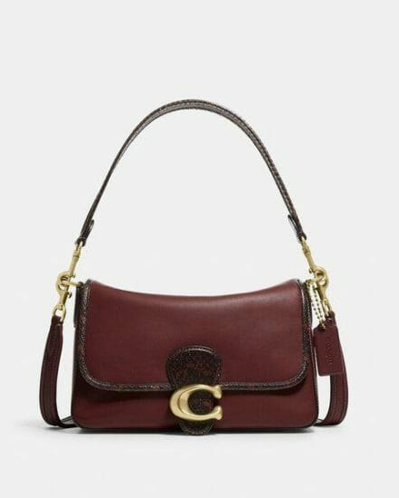 Fashion 4 Coach Soft Tabby Shoulder Bag With Snakeskin Detail