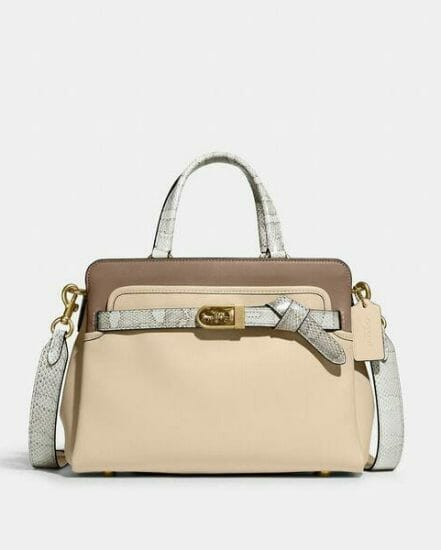 Fashion 4 Coach Tate Carryall 29 In Colorblock With Snakeskin Detail