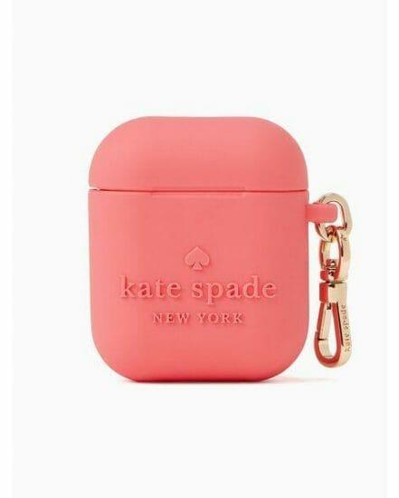 Fashion 4 - embossed silicone kate spade logo airpod case