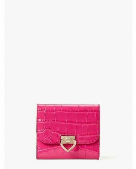 Fashion 4 - lovitt croc-embossed bifold flap wallet