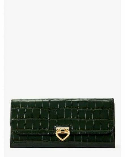 Fashion 4 - lovitt croc-embossed flap continental wallet