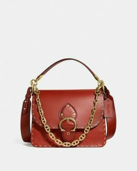 Fashion 4 Coach Beat Shoulder Bag With Rivets
