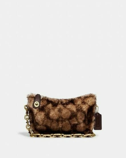 Fashion 4 Coach Swinger Bag With Chain In Signature Shearling